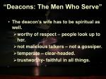 deacons the men who serve17