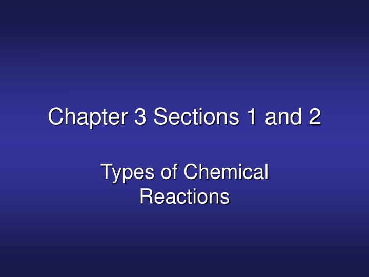 chapter 3 sections 1 and 2 n.