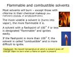 flammable and combustible solvents