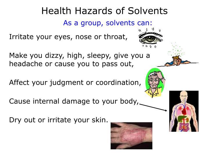Health Hazards of Solvents