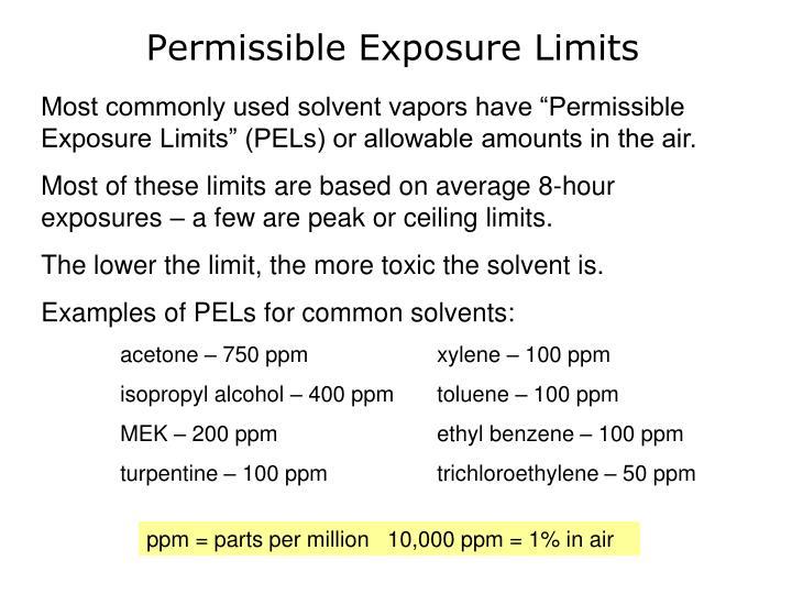 Permissible Exposure Limits
