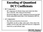 encoding of quantized dct coefficients