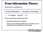 from information theory