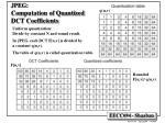 jpeg computation of quantized dct coefficients
