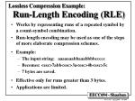 lossless compression example