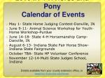 2010 in 4 h horse and pony calendar of events1