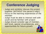 conference judging