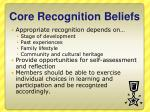 core recognition beliefs1