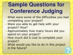 sample questions for conference judging1