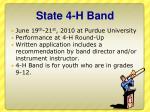state 4 h band