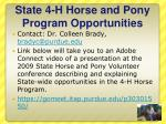 state 4 h horse and pony program opportunities