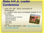state 4 h jr leader conference