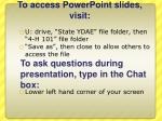 to access powerpoint slides visit