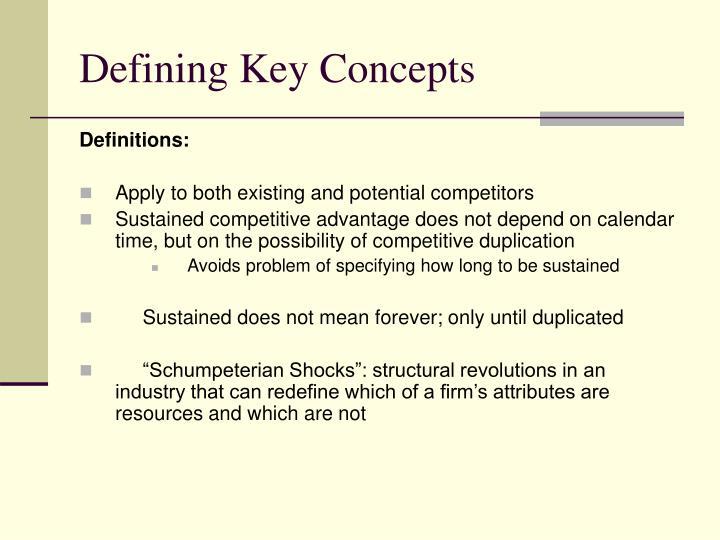Defining Key Concepts