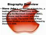 biography overview