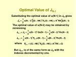 optimal value of j n 1