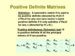 positive definite matrixes