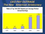 ceo pay outrage the new american aristocracy
