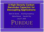 a high density carbon nanotube capacitor for decoupling applications