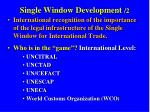 single window development 2