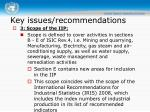 key issues recommendations1