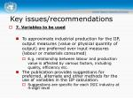 key issues recommendations4