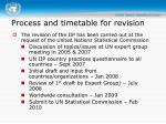 process and timetable for revision