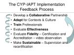 the cyp iapt implementation feedback process