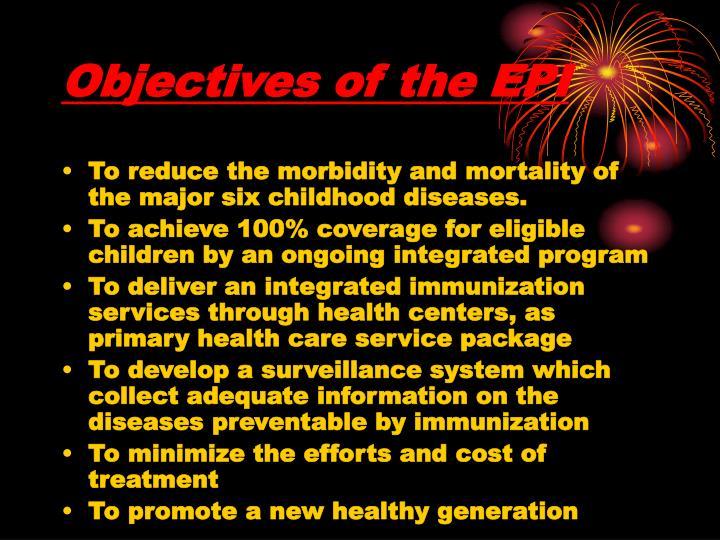 Objectives of the EPI