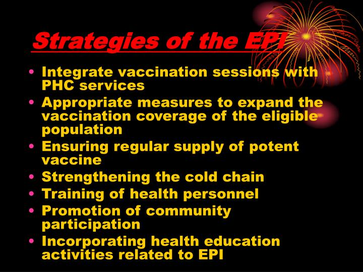 Strategies of the EPI
