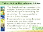 violence by related parties personal relations