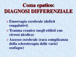 coma epatico diagnosi differenziale
