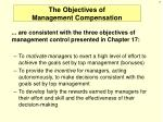 the objectives of management compensation