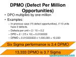 dpmo defect per million opportunities