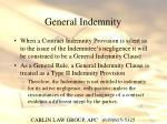 general indemnity