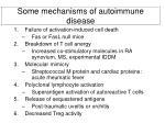 some mechanisms of autoimmune disease