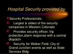 hospital security provided by