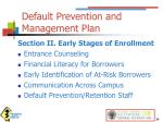 default prevention and management plan1