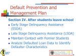default prevention and management plan3