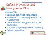 default prevention and management plan5