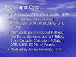 ingy taper coop