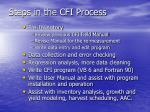 steps in the cfi process
