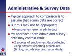 administrative survey data