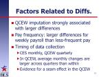 factors related to diffs