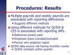 procedures results