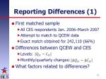 reporting differences 1