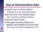 uses of administrative data