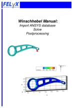 winschhebel manual import ansys database solve postprocessing
