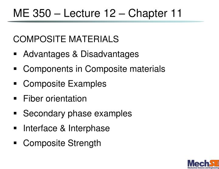me 350 lecture 12 chapter 11 n.