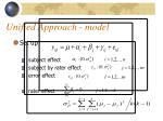 unified approach model